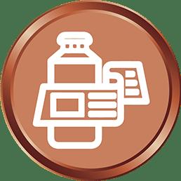 Bronze Product Label Design_silk media web services