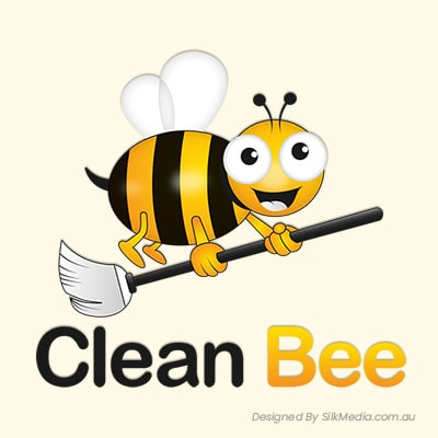 Cleaning Bee Logo_designed by Silkmedia.com.au_01