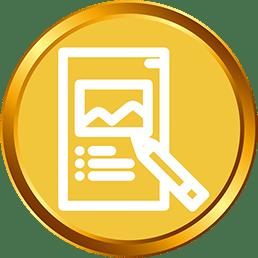 Gold Poster Design_silk media web services