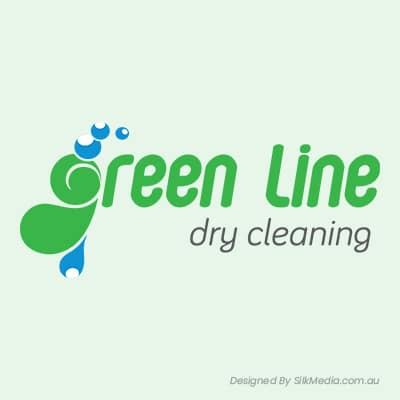 Green Line Dry Cleaning Logo_designed by Silkmedia.com.au_01