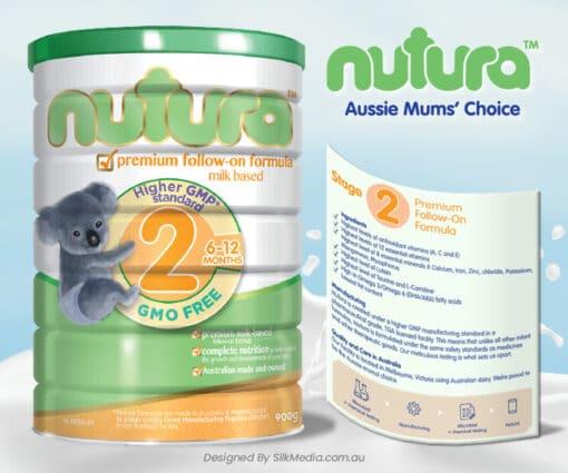 Nutura Stage 2 product label_designed by Silkmedia.com.au