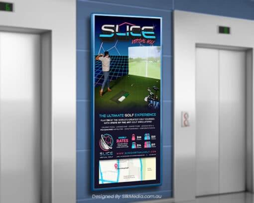Slice Virtual Golf poster_designed by Silkmedia.com.au_3