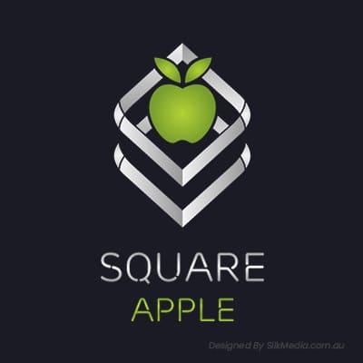 Square Apple Logo logo_designed by Silkmedia.com.au_2